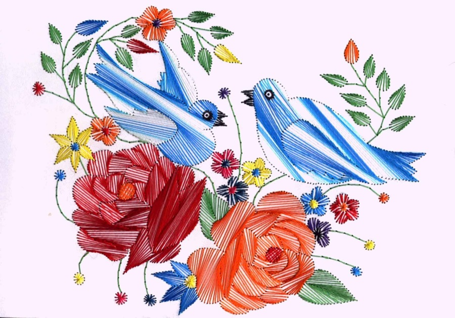 Embroidered Greeting Cards From India Card